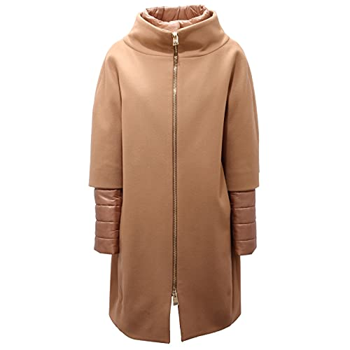 Herno 7985AE Cappotto Donna Camel Color Wool/Padded Coat Woman [46]