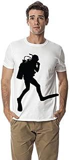 Santhome 180 GSM Mens Scuba diving sports cotton round neck tshirt,