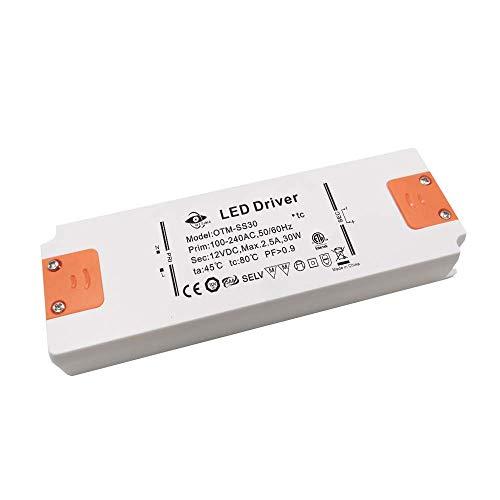 Transformador LED de 30 W, controlador LED, fuente de alimentación, adaptador para tiras de luz, luz de armario, pantalla LED, MR16, G4, MR11, GU5.3, bombillas LED halógenas