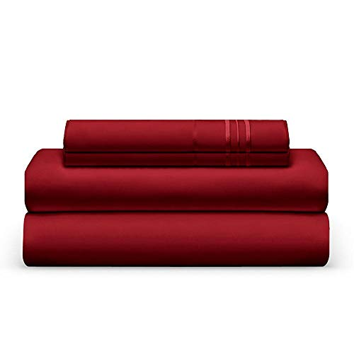 THE BEDSHEET CLUB 1800 Thread Count Bed Sheet Set - 1 Fitted & 1 Flat Sheets, 2 Pillow Cases - Best Double Brushed Microfiber - Soft & Cool, with Deep Pockets, Elastic - California King - Shore