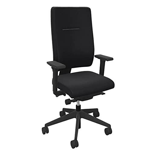 Viasit Toleo, ergonomischer Bürostuhl, Deutscher Hersteller, 3D-Sitztechnik, individuell anpassbar, Schwarz, Vollpolsterung