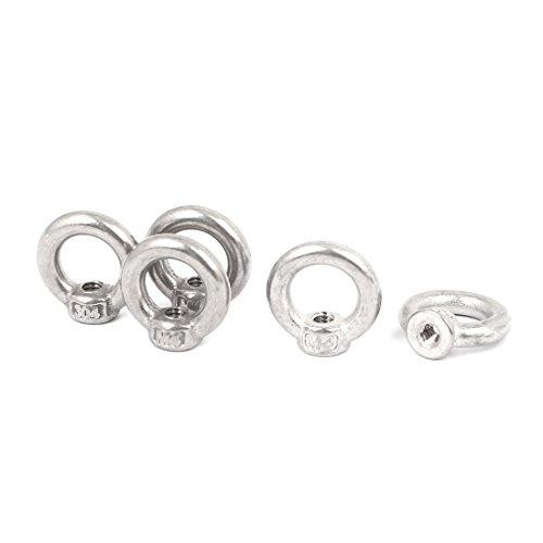 sourcingmap® 5stk M4 Gewindedmr 304 Edelstahl Ring Form Heben Augenmutter Verschluss de