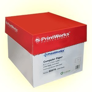3 Part, Blank Carbonless, White, Yellow, Pink, Tractor Feed, 9 1/2 x 5 1/2, 2000 Sheets Per Ctn., #02878 by PrintWorks