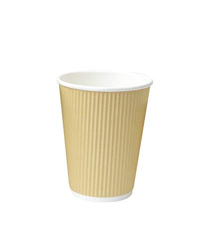 PacknWood 210GCR16BG - Taza de café desechable de papel beige (473 g, 8,9 x 13,7 cm)