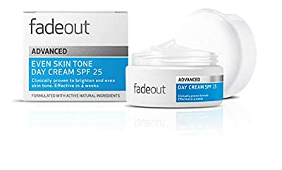 Fade Out Advanced Even Skin Tone Day Cream with SPF25 - Face Cream With Niacinamide and Lactic Acid to Brighten Skin tone in 4 weeks
