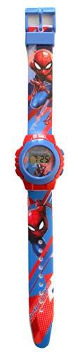 Kinder-Armbanduhr, Quarz, digital, Motiv: Spider-Man, Marvel-Comics