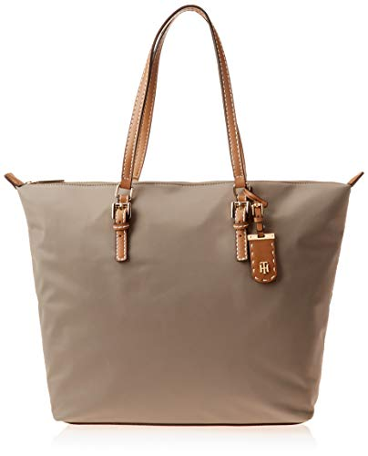 Tommy Hilfiger Tote Bag for Women Julia, Khaki Nylon