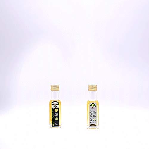 Argand'or Reines Bio-Arganöl, handgepresst, aus gerösteten Argannusskernen, besonders nussiger Geschmack, 20 ml, 2er Pack (2 x 20 ml)
