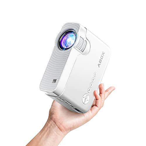"""Bomaker Mini Projector for iPhone, Portable Wireless WiFi Projector for Phone/Office Presentation, Full HD 200"""" Display Supported, Compatible with Laptop, HDMI, TV Stick"""