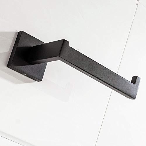 portarrollos baño SUS 304 acero inoxidable Negro papel higiénico titular soporte de papel higiénico for la toalla de baño del rollo de papel de baño Accesorios Cuadrados Soporte para papel higiénico