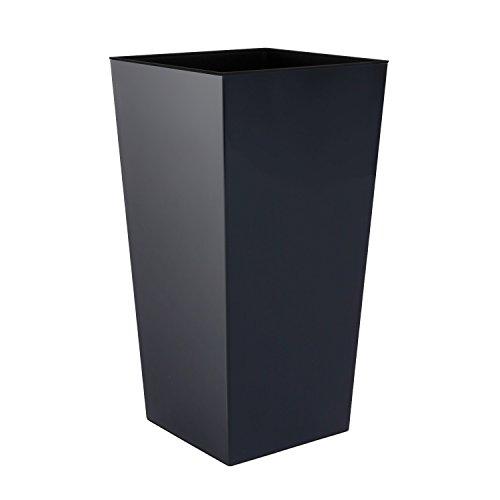 vaso di fiori Prosperplast, nero, 40x40x75 cm, DURS400-S433