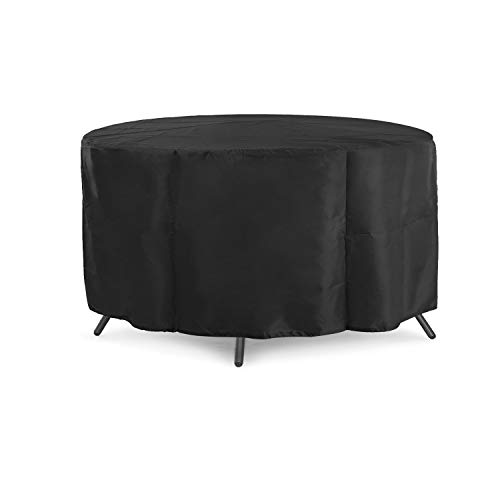 SDSA Garden Furniture Cover, Outdoor Courtyard Round Table Waterproof And Dustproof Furniture Protective Cover, Material:Polyester Fiber