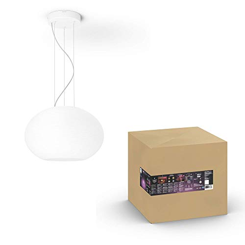 Philips Hue White & Col. Amb. LED Pendelleuchte Flourish, dimmbar, 16 Mio. Farben, steuerbar via App, kompatibel mit Amazon Alexa (Echo, Echo Dot)