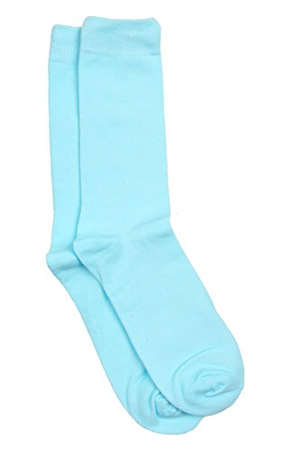 SOCK-101-20 - Aqua Blue - Designer Solid Mens Sock
