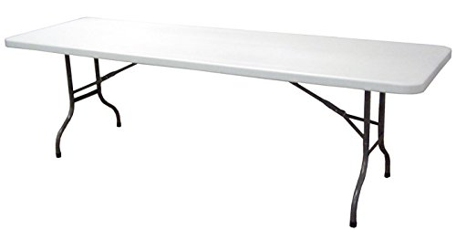 Table Pliante avec Plateau en polypropylène Haute densité- A Usage Professionnel - Dim : H 74 x L 242 x P 78 cm