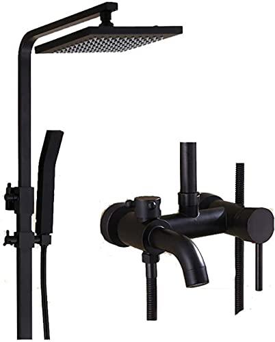 Shower Systems - Juego de ducha de latón vintage con 3 orificios para instalación en frío/caliente, grifo de baño, hotel/hogar
