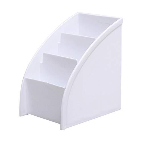 Boîte de rangement pour articles divers de bureau, organisateur de rangement pour pinceau de maquillage trapézoïdal, conteneur d'affichage cosmétique, pour comptoir de salle de bain, commode
