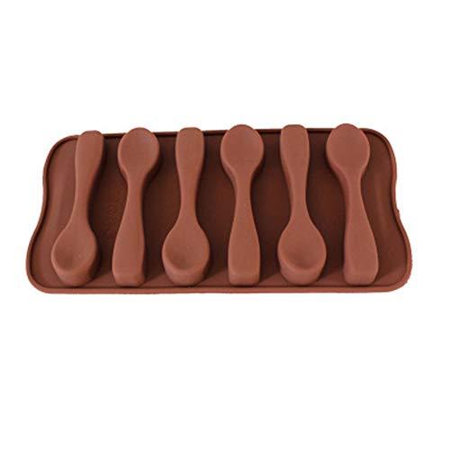 huahuajia Stampini per Ghiaccio Multiuso Riutilizzabili Formine Ghiaccio Forma A Cucchiaio creatività Design Stampo Ghiaccio Flessibile Cioccolato Succo Bevande