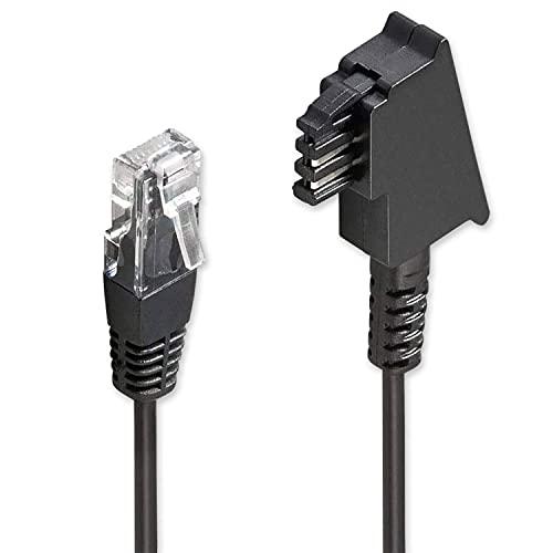 PerfectHD TAE Kabel - DSL ADSL VDSL Kabel - Anschlusskabel für FritzBox - TAE Anschlusskabel - Router - 15 Meter lang - 4 Verschiedene Längen