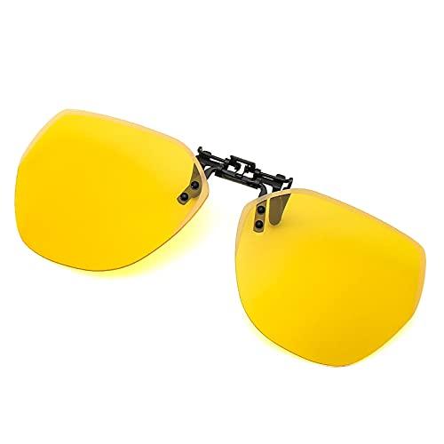 mjuwzghy Gafas de Sol polarizadas con Clip Redondo, Unisex, con Revestimiento Rosa, Espejo, Gafas de Sol para Conducir, Gafas con Clip Ovalado de Metal uv400