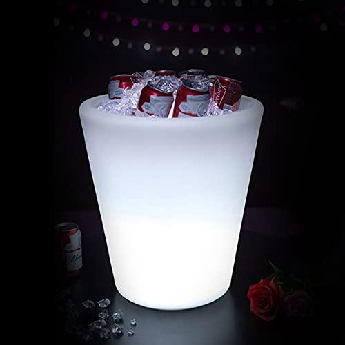 Colorido LED Luz Hielo Cubo De Champán,16 Colores Cambiantes Champagne Vino Bebidas Cerveza Hielo Enfriador Bar Club Pub,D
