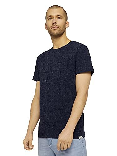 TOM TAILOR Herren 1026065 Colorful T-Shirt, 27408-Sailor Blue NEP Inject Melangé, XL