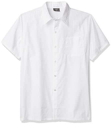 Chef Code Men's Kitchen Basic Cook Shirt, White, Medium