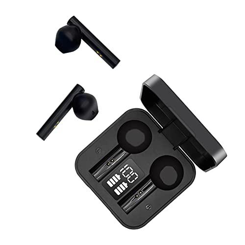 Auriculares Inalambricos Bluetooth Cascos Inalambricos Bluetooth con Microfono, Auriculares Bluetooth Deportivos IPX7 Impermeables con Caja de Carga Rápida USB Portátil, Smart Touch Cascos Bluetooth