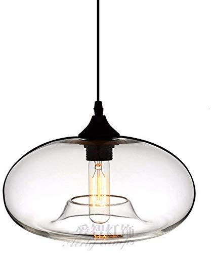 Lámpara colgante de luz Vintage Retro Cafe Bar Escalera de vidrio Lámparas modernas 28 * 14Cm Restaurante Decoración: Amazon.es: Iluminación