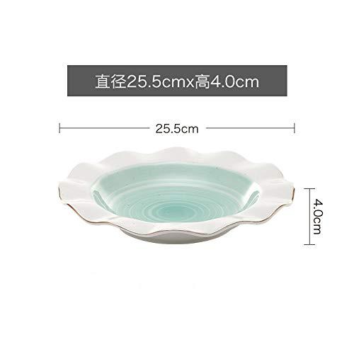 SPXMX Plato Plato tazón 8 Pulgadas 10 Pulgadas 12 Pulgadas Plato tazón Creativo Hueso China tazón hogar FR