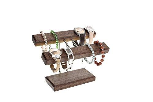Uhrenhalter Armbandhalter Schmuckhalter Schmuckständer Nussbaumholz