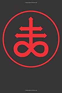 """Brimstone Sigil: 120 Pages 6"""" x 9"""" Blank Lined Notebook, Journal or Diary"""