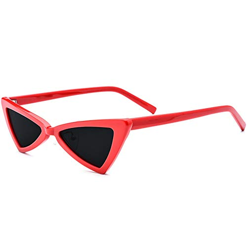 LCSD Occhiali da Sole Nuovi Occhiali da Sole Polarizzati Piccoli Occhiali da Sole Polarizzati Moda Femminile retrò Occhiali da Sole Cat Eye Occhiali da Sole Lenti Protezione UV400 (Color : Red)