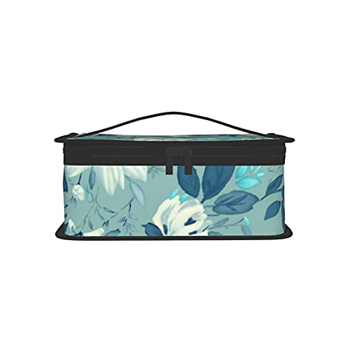 Bolsa de almuerzo reutilizable aislada con impresión de flores Bolsa de almuerzo portátil para hombres y mujeres de trabajo picnic