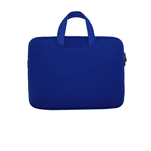 Soft Sleeve Bag Briefcase Handlebag Pouch Portable Laptop Bag Replacement for 14-inch 14'' Ultrabook Laptop Blue