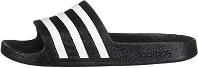 adidas Women's Adilette Aqua, White/Black, 7 M US