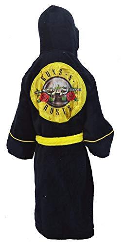 QMerch Gewehre Rosen Kinder Bademantel/Bademantel (Jungen Mädchen Kinder Kinder' Robe) - Schwarz, Medium