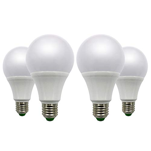 Bombillas LED A80 E27 9 W equivalentes a 12 V 80 W ES globo bombilla blanca fría 6000 K para iluminación doméstica mediante paneles solares RV, lote de 4