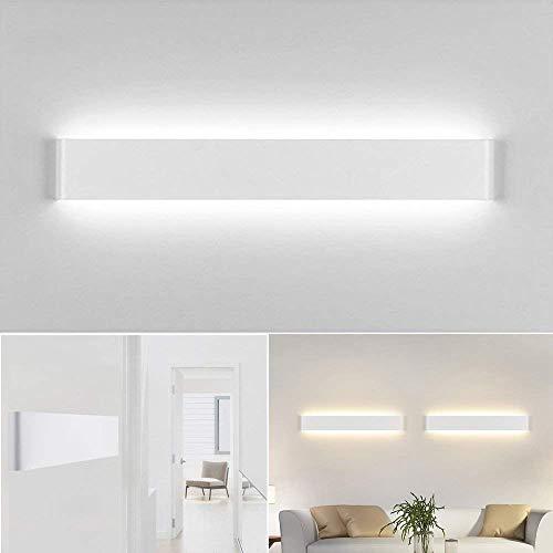 Aplique Pared Interior LED IP44 Impermeable Kambo Lámpara de Pared Interior Moderna 14W 40CM Blanco Frío 6000K 1000LM AC85-265V Aluminio Decoración para Salon Pasillo Escalera Dormitorio Baño