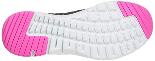Skechers Flex Appeal Fan Craze, Zapatillas para Correr Mujer, Black/Multicolored, 38 EU