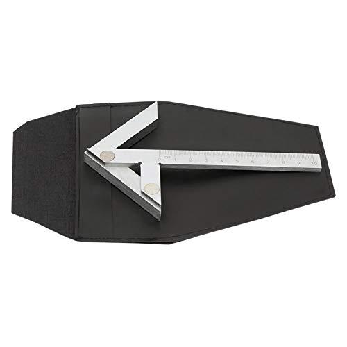Akozon Mittelpunktsmessgerät 100 * 70 mm Zentrier Quadrat Lineal Mittelmessgerät mit Runder Stange Markierungs Center Finder für Hardware Bearbeitung Zylindrische Zentrierwinkel Markierung