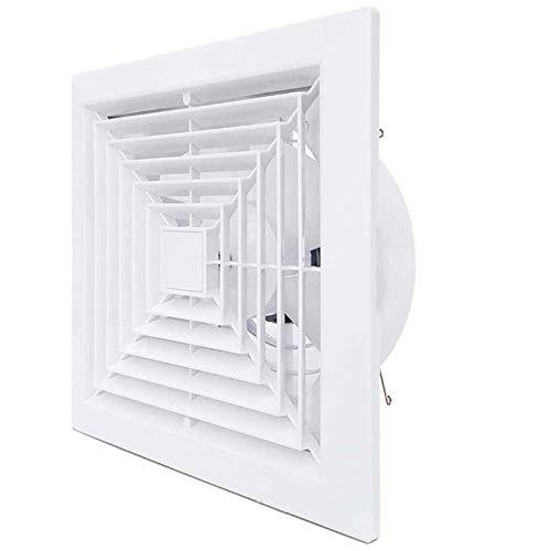 YKAMM Extractor de baño silencioso a Prueba de Agua Ventilador de Escape Ventilador Fuerte para Ventiladores de ventilación de Ventana de Inodoro de Cocina