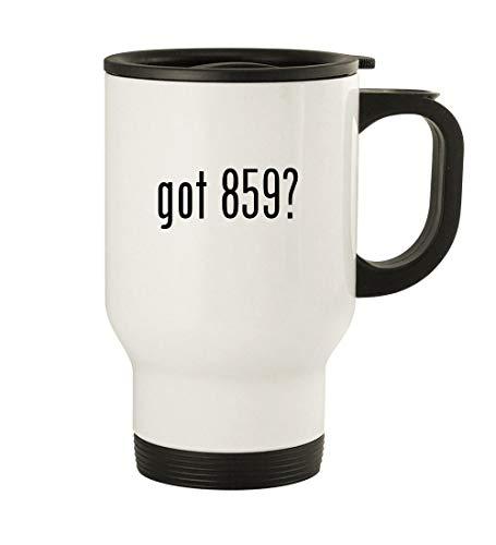 got 859? - 14oz Stainless Steel Travel Mug, White