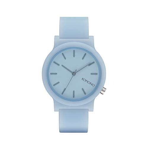 Komono Unisex-Uhren Analog Quarz One Size Hellblau 32015273