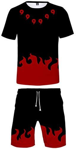 Silver Basic Naruto Camiseta y Pantalón Chandal para Niños y Hombres Pijama...