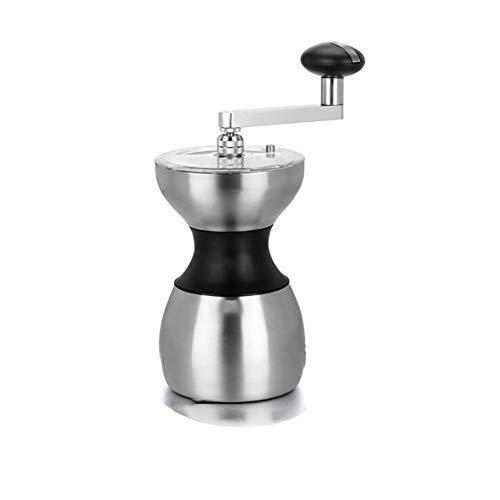 LNDDP Manuelle Kaffeemühle, stufenlos Einstellbarer Keramikgrat, langlebiger Edelstahl, leise und tragbar
