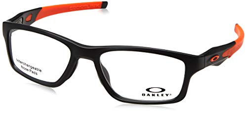 Ray-Ban 0OX8090 Montature, Grigio (Satin Black), 53 Uomo
