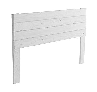 Cabecero de madera para cama de matrimonio de 135 cm Anchura: 145 cm Altura: 90 cm Acabado: Blanco nórdico Adaptable a cualquier tipo de cama