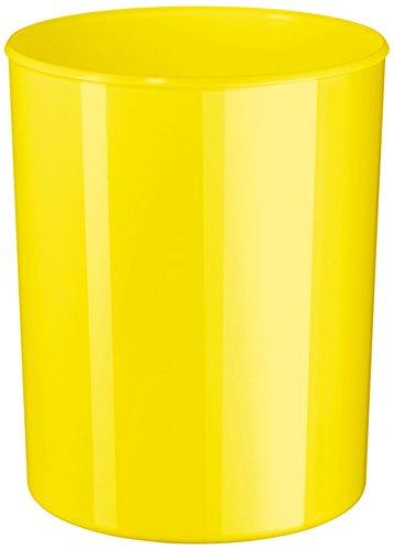 HAN Design-Papierkorb i-Line 18132-95 in New Colour Gelb/Eleganter & stylischer Papiereimer für das moderne Büro/Fassungsvermögen: 13 Liter