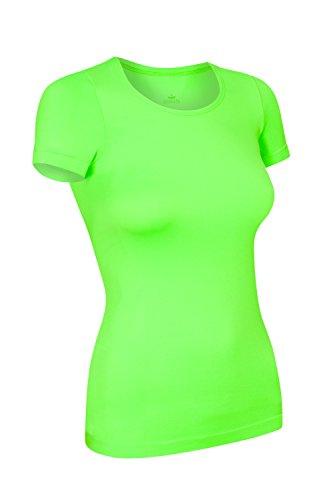 Assoluta Damen T-Shirt Kurzarm, Größe M, neon grün